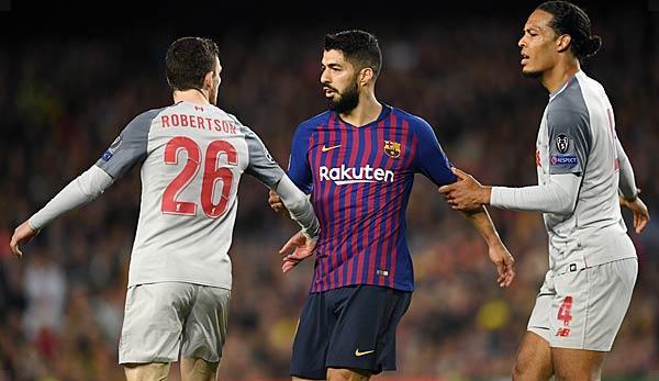 Champions League: Liverpool's Robertson teases Suarez