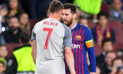 """Champions League: Milner reveals: Messi called me a """"donkey"""""""