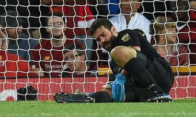 Premier League: Liverpool for weeks without Keeper Alisson